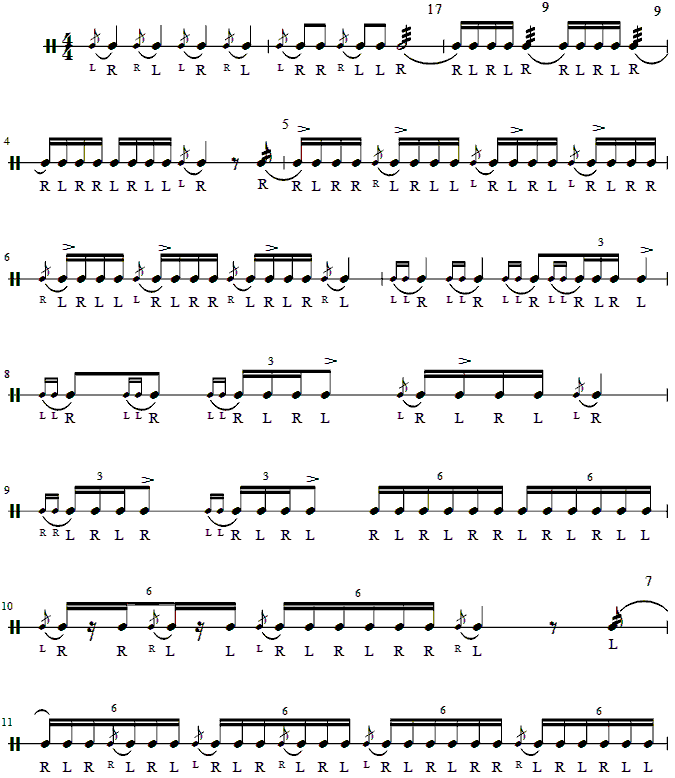 8th-9th Grade Rudiment Test 4
